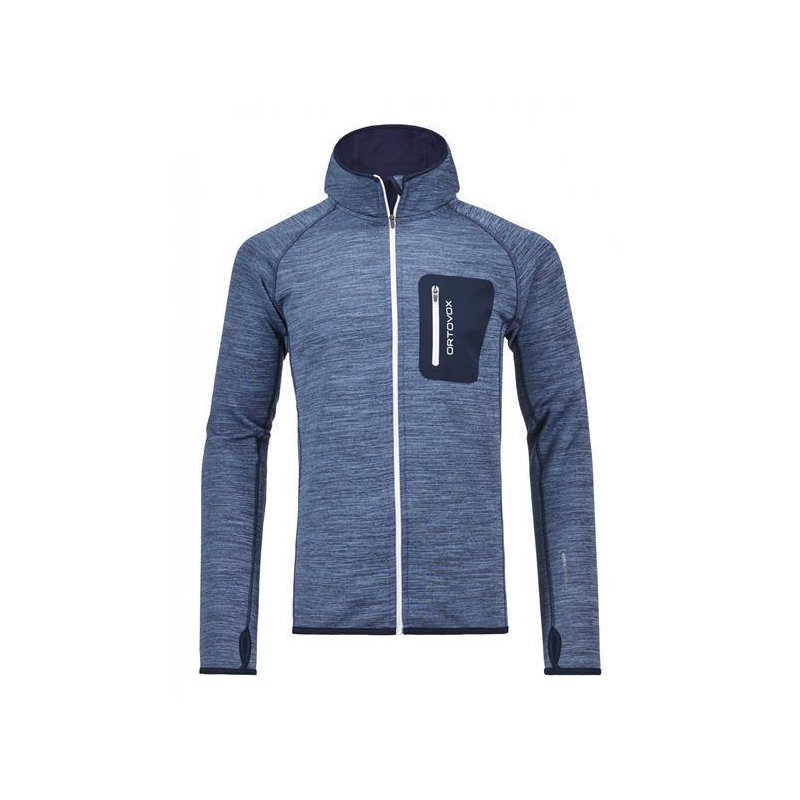 ortovox merino fleece melange hoody herren night blue blend 159 95. Black Bedroom Furniture Sets. Home Design Ideas