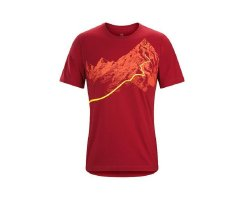 ARCTERYX AFTERGLO HEAVYWEIGHT T-SHIRT HERREN VOLCANO