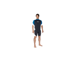 MARES RASH GUARD LOOSE FIT KURZÄRMLIG HERREN BLAU
