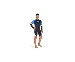 MARES RASH GUARD LOOSE FIT LANGÄRMLIG HERREN BLAU