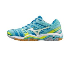 MIZUNO HANDBALL WAVE STEALTH 4 STRONGBLUE/WHITE/FCORAL