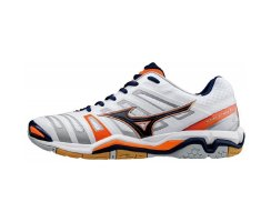 MIZUNO HANDBALL WAVE STEALTH 4 WHITE/BlACK/ORANGE