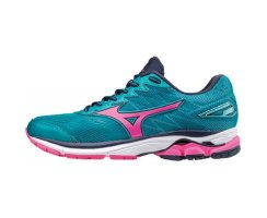MIZUNO WAVE RIDER 20 W TILE BLUE/PINK GO/ PEACOAT