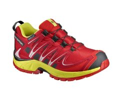 SALOMON XA PRO 3D CSWP J FIERY RED/SULPHUR SPRING/BLACK