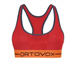 ORTOVOX 185 ROCKNWOOL DAMEN SPORT TOP HOT CORAL