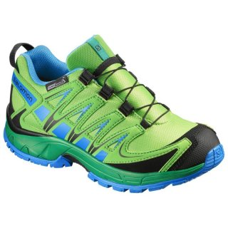 SALOMON XA PRO 3D CSWP J TONIC GREEN/ATHLETIC GREEN X/UNION BLUE