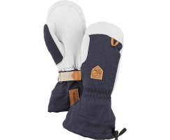 HESTRA ARMY LEATHER PATROL GAUNTLET MITT NAVY