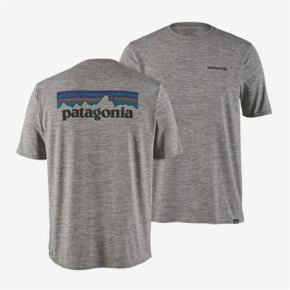 Patagonia Mens Capilene® Cool Daily Graphic Shirt P-6 Logo: Feather Grey
