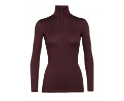 Icebreaker Women 200 Oasis LS Half Zip Redwood