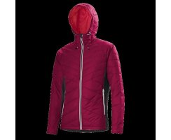 LÖFFLER HOODED JACKET PRIMALOFT 100 CB BORDEAUX
