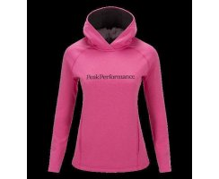PEAK PERFORMANCE WOMENS KATE HOODED MID-LAYER MAGENTA/PINK