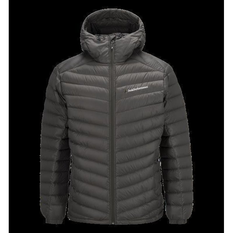 best service d05a0 a6aec PEAK PERFORMANCE MEN'S FROST DOWN HOODED JACKET BLACK OLIVE