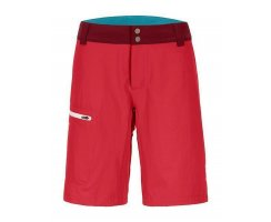 ORTOVOX MERINO SHIELD ZERO PELMO SHORTS W HOT CORAL