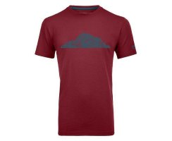 ORTOVOX 150 COOL PITCHES T-SHIRT M DARK BLOOD