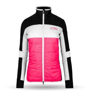 Jacke damen schwarz pink