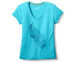 SMARTWOOL WOMENS MERINO 150 FEATHER TEE LIGHT CAPRI