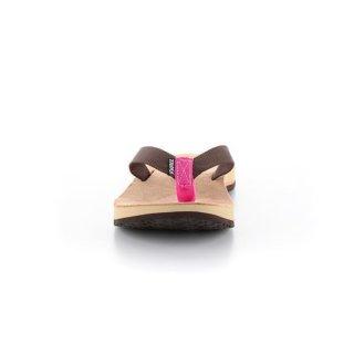 Source Djibouti Damen Leder Flip Flop (36, Braun/Pink)