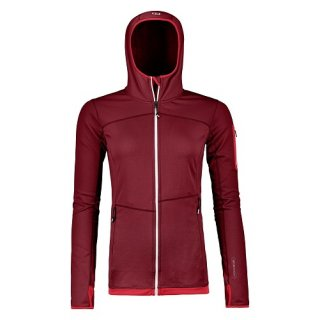 ORTOVOX FLEECE LIGHT HOODY HIGH W DARK BLOOD