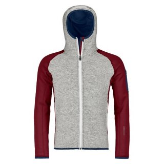 MERINO FLEECE PLUS CLASSIC KNIT HOODY M DARK BLOOD