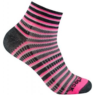 WRIGHT SOCKS COOLMESH II QUARTER PINK-BLACK-WHITE