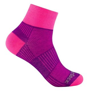 WRIGHT SOCKS COOLMESH II QUARTER PLUM-PINK