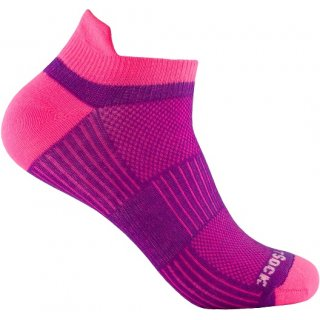 WRIGHT SOCKS COOLMESH II LOW TAB PLUM-PINK
