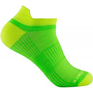 WRIGHT SOCKS COOLMESH II LOW TAB LEMON-LIME