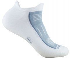 WRIGHT SOCKS ENDURANCE LOW TAB WHITE-GREY