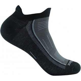 WRIGHT SOCKS ENDURANCE LOW TAB BLACK-ASH