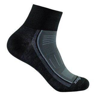 WRIGHT SOCKS ENDURANCE/QUARTER BLACK-ASH