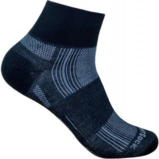 WRIGHT SOCKS STRIDE/QUARTER BLACK