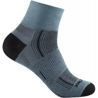 WRIGHT SOCKS STRIDE/QUARTER GREY