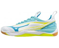 MIZUNO WOMAN WAVE MIRAGE 2 WHT/DIV.BLUE/S.YELLOW