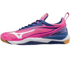 MIZUNO WOMAN WAVE MIRAGE 2 PINK GLO/WHT/TRUE BLUE