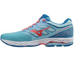 MIZUNO WAVE SHADOW W BLUE TOPAZ/FIERY CORAL/IMPERAL BLUE