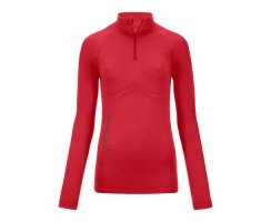 MERINO 230 COMPETITION ZIP NECK W HOT CORAL