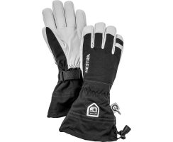 HESTRA ARMY LEATHER HELI SKI 5 FINGER BLACK