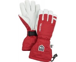HESTRA ARMY LEATHER HELI SKI 5 FINGER RED