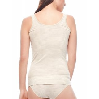 b53deafd036dc ... ICEBREAKER WOMENS SIREN TANK FAWN HEATHER SNOW STRIPE
