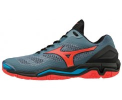 MIZUNO WAVE STEAHL V WOMEN BLUE MIRAGE/FIERY CORAL/BLACK