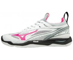 MIZUNO WAVE MIRAGE 2.1 WOMEN WHITE/PINK/ GLO/HIGH-RISE