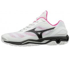 MIZUNO WAVE STEAHL V WOMEN WHITE/BLACK/PINK GLO