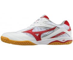 MIZUNO WAVE DRIVE 8 MEN WHITE/CHINESE RED/SILVER