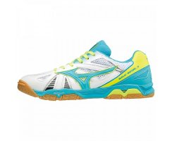 MIZUNO WAVE MEDAL 5 MEN BLUE ATOL/WHITE/SAFETY YELLOW