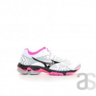 MIZUNO WAVE BOLT 7 WOMEN WHITE/BLACK/PINK GLO