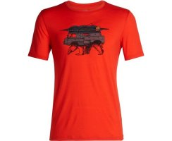 ICEBREAKER MENS TECH LITE SHORT SLEEVE CREWE ALPIN CREST...