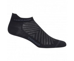 ICEBREAKER MENS RUN+ULTRA LIGHT MICRO BLACK/MONSOON