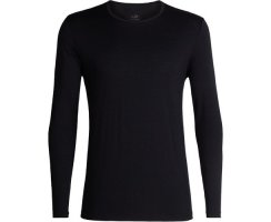 ICEBREAKER MENS TECH 200 LONG SLEEVE CREWE BLACK