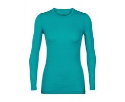 ICEBREAKER WOMENS 200 OASIS LONG SLEEVE CREWE CURVE...