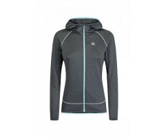 MONTURA SHIRT WOMAN THERMAL GRID HOODY MAGLIA PIOMBO/ICEBLUE